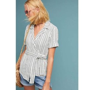 Amadi Matute x Anthropologie Wrapped Blouse